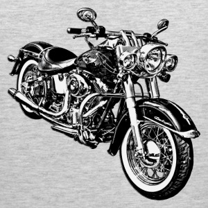 Motorcycle black and white graphics T-Shirts - Men's Premium Tank