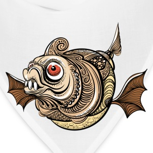 Illustration of dangerous fantastic fish T-Shirts - Bandana