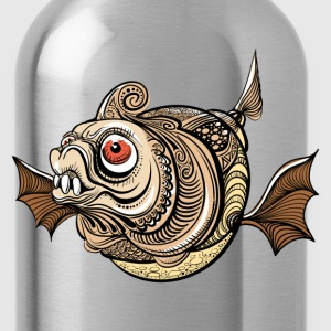 Illustration of dangerous fantastic fish T-Shirts - Water Bottle