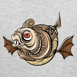 Illustration of dangerous fantastic fish T-Shirts - Men's Premium Tank