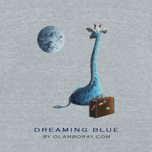 Dreaming Blue  - Unisex Tri-Blend T-Shirt by American Apparel