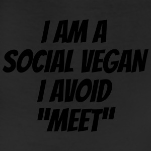 I am a social vegan I avoid meet Women's T-Shirts - Leggings