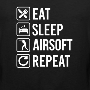 Airsoft Eat Sleep Repeat T-Shirts - Men's Premium Tank