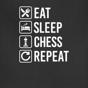 Chess Eat Sleep Repeat T-Shirts - Adjustable Apron