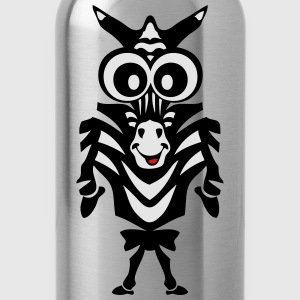 zebra drawing animals child 811 T-Shirts - Water Bottle