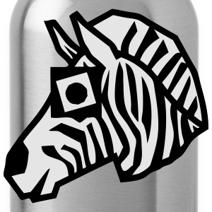 zebra drawing animals form 811 T-Shirts - Water Bottle