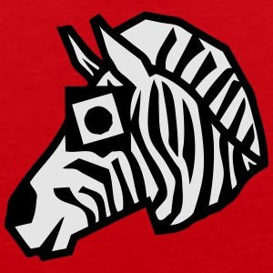 zebra drawing animals form 811 T-Shirts - Men's Premium Tank