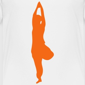 zen yoga position 1 Kids' Shirts - Toddler Premium T-Shirt