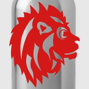 lion drawing profile 911 animals T-Shirts - Water Bottle