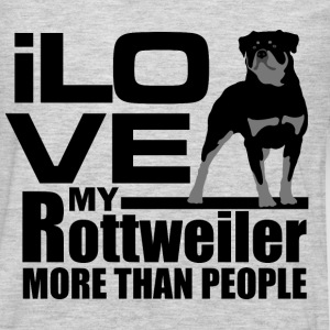 I love my Rottweiler more than I love people - Men's Premium Long Sleeve T-Shirt