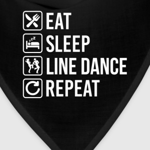 Line Dance Eat Sleep Repeat T-Shirts - Bandana