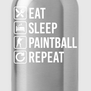 Paintball Eat Sleep Repeat T-Shirts - Water Bottle