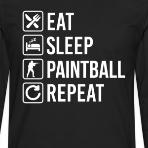 Paintball Eat Sleep Repeat T-Shirts - Men's Premium Long Sleeve T-Shirt