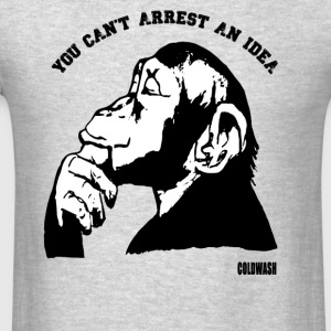YOU CAN'T ARREST AN IDEA Long Sleeve Shirts - Men's T-Shirt