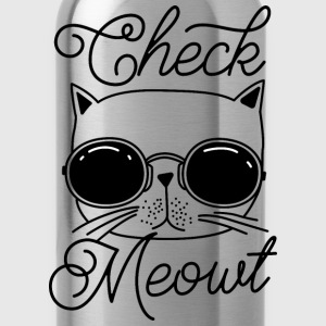 Check meowt - Water Bottle