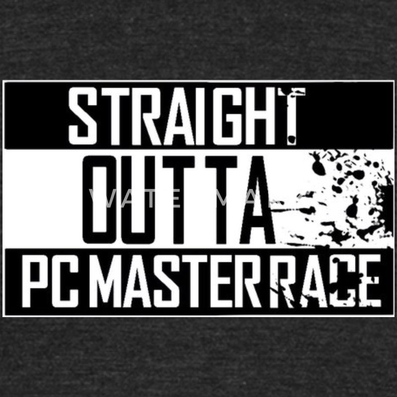 Straight Outta Pc Master Race T-Shirts - Unisex Tri-Blend T-Shirt by American Apparel
