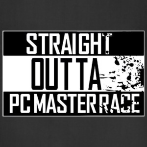 Straight Outta Pc Master Race Hoodies - Adjustable Apron