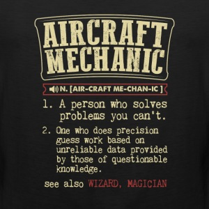 Aircraft Mechanic Badass Dictionary Term Funny T-S T-Shirts - Men's Premium Tank