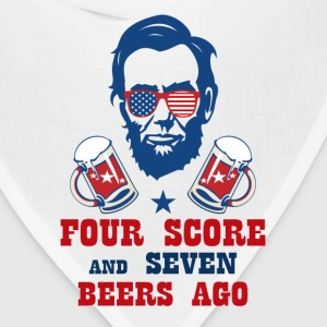 FOUR SCORE AND SEVEN BEERS AGO T-Shirts - Bandana