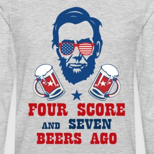 FOUR SCORE AND SEVEN BEERS AGO T-Shirts - Men's Premium Long Sleeve T-Shirt