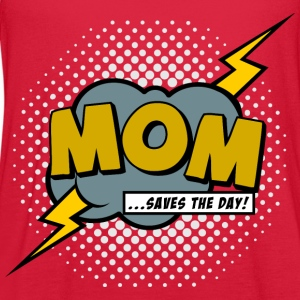 Mom saves the day Women's T-Shirts - Women's Flowy Tank Top by Bella