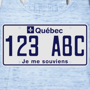 Quebec License Plate T-Shirt - Women's Flowy Tank Top by Bella