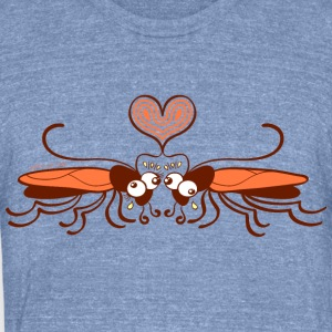 Ugly cockroaches passionately falling in love Long Sleeve Shirts - Unisex Tri-Blend T-Shirt by American Apparel