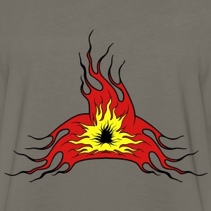 Fire flame art T-Shirts - Men's Premium Long Sleeve T-Shirt