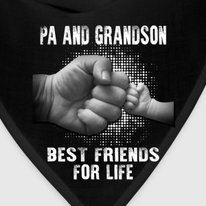 Pa And Grandson Best friends for Life T-Shirts - Bandana