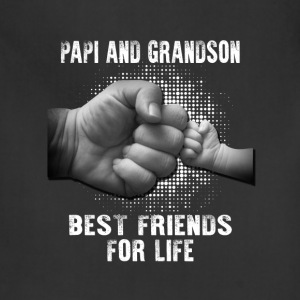 Papi And Grandson Best friends For Life T-Shirts - Adjustable Apron