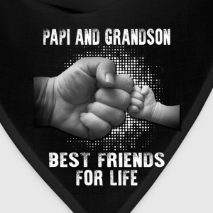 Papi And Grandson Best friends For Life T-Shirts - Bandana