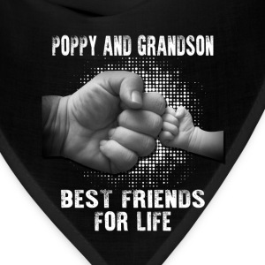 Poppy And Grandson Best Friends For Life T-Shirts - Bandana