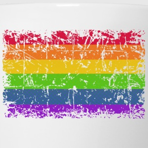 Rainbow Flag Vintage Women's T-Shirts - Coffee/Tea Mug