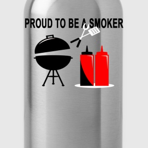 proud_smoker_tshirt - Water Bottle