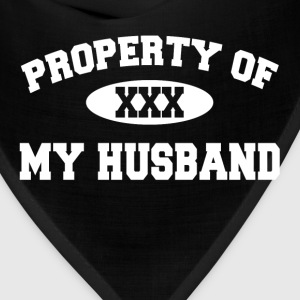 Property Of My Husband Gift for Wife Women's T-Shirts - Bandana