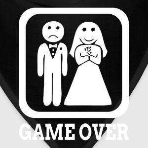 GAME OVER Marriage Bride Groom Wedding Sportswear - Bandana