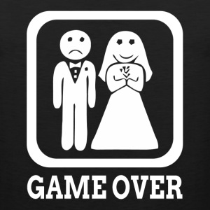 GAME OVER Marriage Bride Groom Wedding T-Shirts - Men's Premium Tank