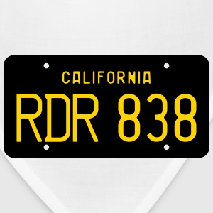 Retro 1963 California RDR 838 License Plate T-Shir - Bandana
