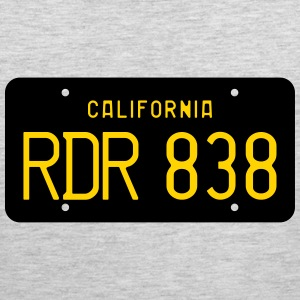 Retro 1963 California RDR 838 License Plate T-Shir - Men's Premium Tank