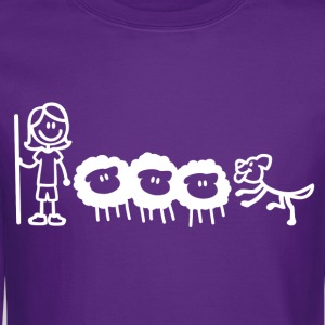 Herding Stick Figures Women's T-Shirts - Crewneck Sweatshirt