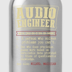 Audio Engineer Badass Dictionary Term Funny T-Shir T-Shirts - Water Bottle
