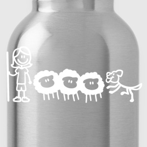 Herding Stick Figures Women's T-Shirts - Water Bottle