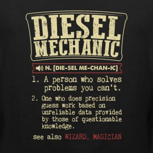 Diesel Mechanic Badass Dictionary Term  T-Shirt T-Shirts - Men's Premium Tank