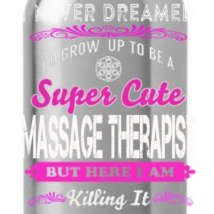 MASSAGE - i'd grow up to be a super T-Shirts - Water Bottle