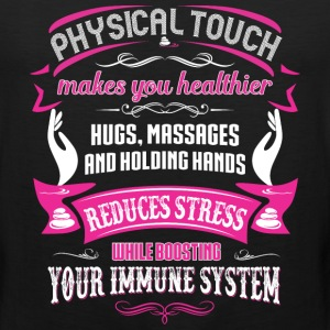 MASSAGE  - physical touch makes you T-Shirts - Men's Premium Tank