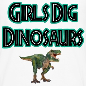 Girls Dig Dinosaurs! - Men's Premium Long Sleeve T-Shirt