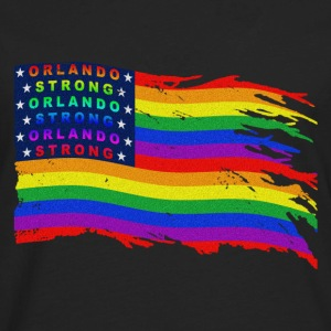 ORLANDO STRONG DISTRESSED FLAG WAVE - Men's Premium Long Sleeve T-Shirt