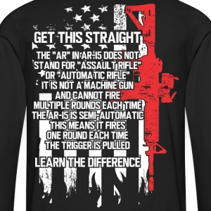 The AR-15 is NOT an Assault Rifle - Men's Premium Long Sleeve T-Shirt