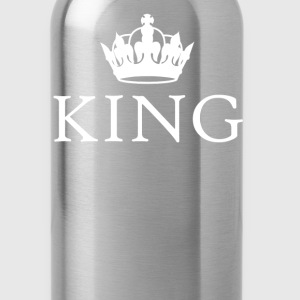 King Queen crown couples t-shirt - Water Bottle