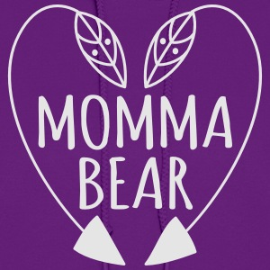Momma bear t shirt heart - Women's Hoodie
